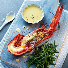 Lobster and Samphire with Garlic Aioli