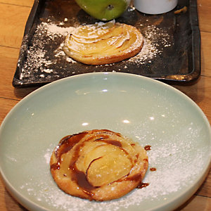 Simple Country Style Apple Tart with Lemon Mascarpone