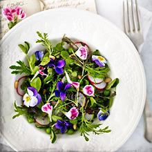 Baby Leaf Salad With Edible Flowers