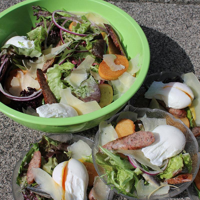 Caesar Salad with Cumberland Sausage