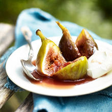 Honey & Marsala Baked Figs