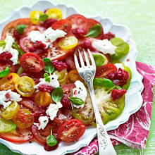 Raspberry & Tomato Carpaccio