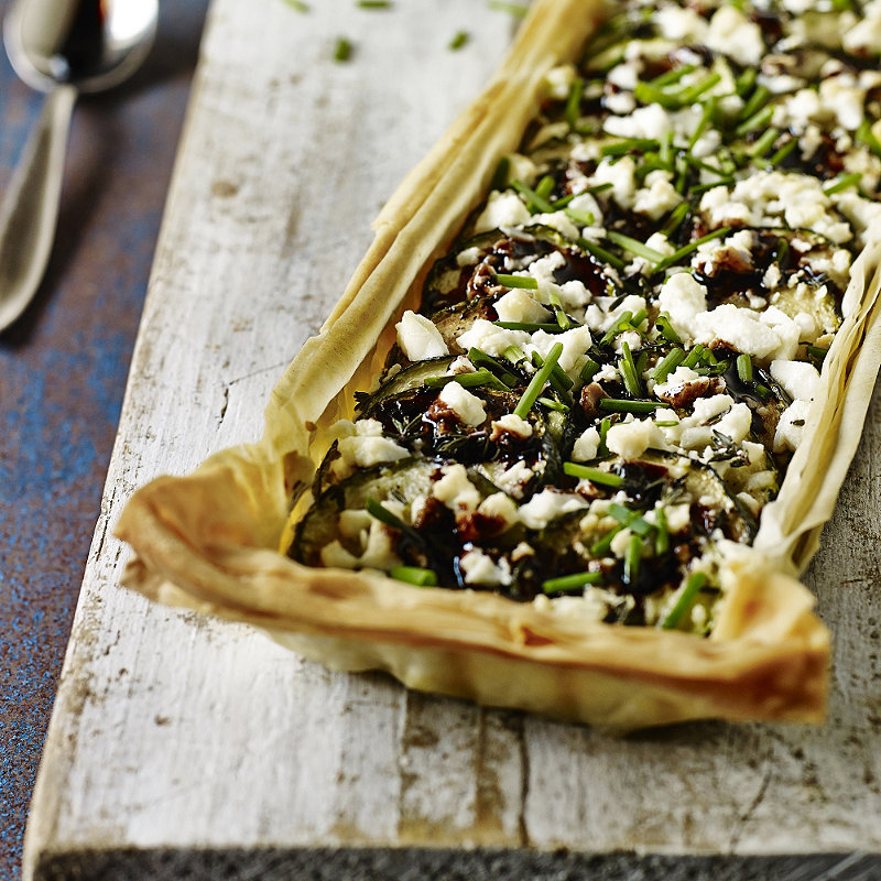 Feta and Courgette Tart