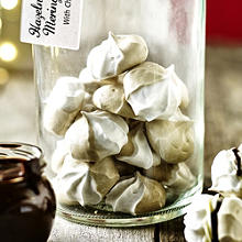 Hazelnut and Coffee Meringue Kisses With Chocolate Filling