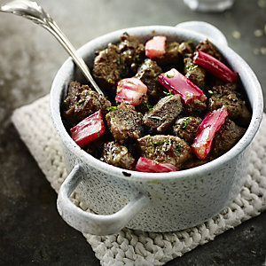 Persian Lamb With Roasted Rhubarb