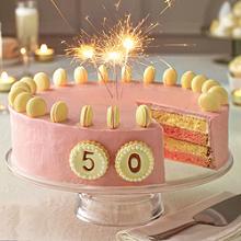 Festlicher Rhabarber-Vanille-Kuchen, 20cm