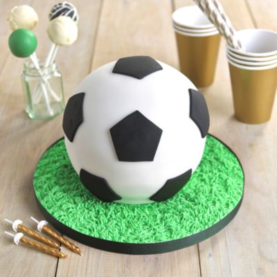 Football Hemisphere Cake in recipes at Lakeland