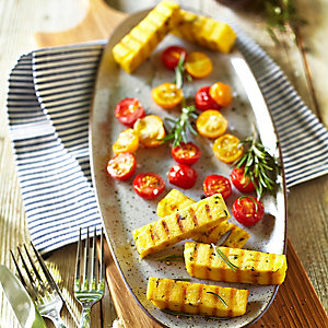 Grilled Polenta With Roasted Tomatoes
