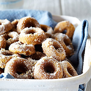 Pumpkin & Hazelnut Mini Doughnuts