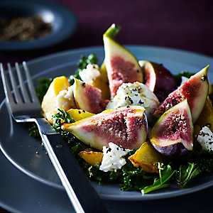 Grilled Kale Salad with Beetroot, Fig & Ricotta