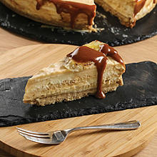 Salted caramel & banana cheesecake