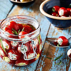 Cheese-Stuffed Baby Plum Tomatoes