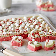 Festive Fudge With Peppermint Bark