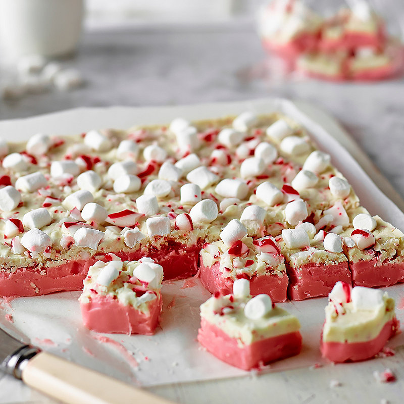 Festive Fudge With Peppermint Bark Recipes Lakeland