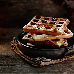 Maple Syrup-Drizzled Waffles