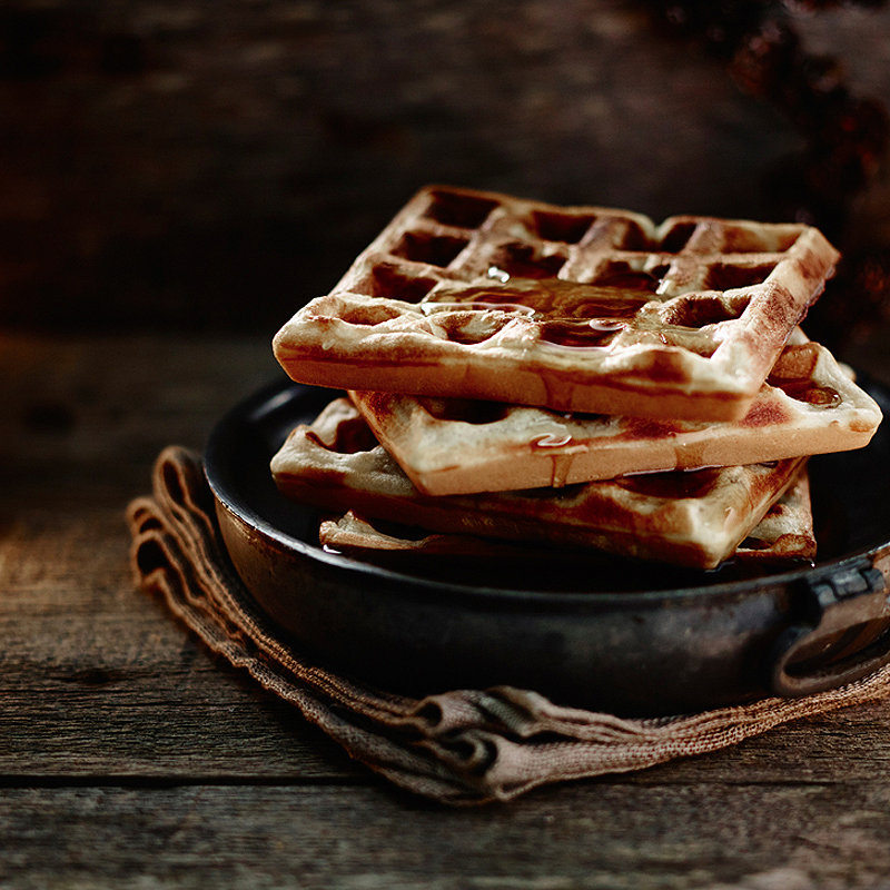 Maple Syrup-Drizzled Waffles in recipes at Lakeland