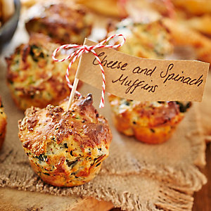 Cheese & Spinach Muffins
