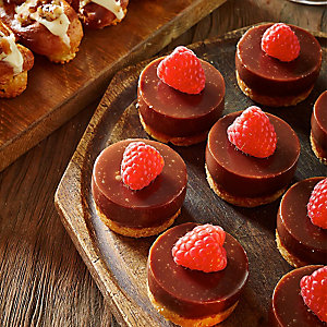 Mini Chocolate & Raspberry Tarts