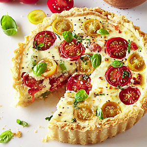 Ricotta With Basil & Tomato Tart