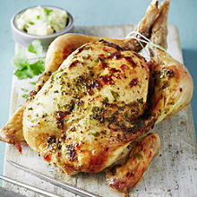 Garlic & Ginger Butter-Basted Roast Chicken