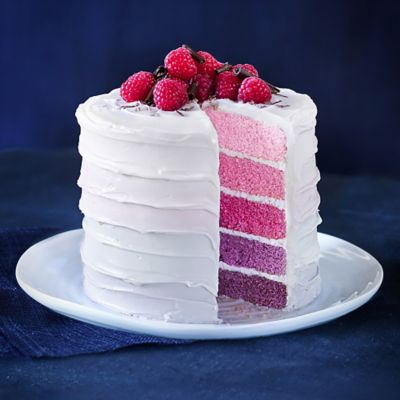 Rainbow Layer Cake With Raspberry Frosting Recipes