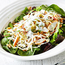 Spiralled Apple, Fennel & Smoked Chicken Salad