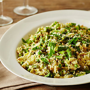No-Stir Spring Risotto