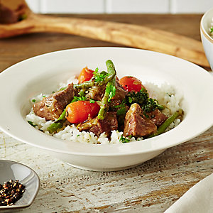 Spring Lamb Casserole With Minted Rice