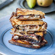 Gorgonzola, Prosciutto, Pear and Radicchio Toast