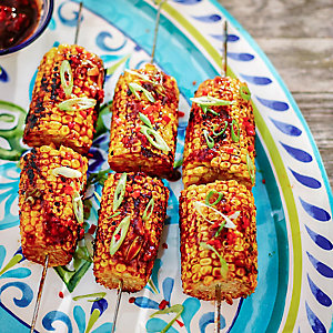 Oriental Mini Sweetcorn Skewers