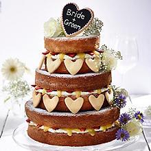 Fresh Fruit Vanilla Naked Wedding Cake