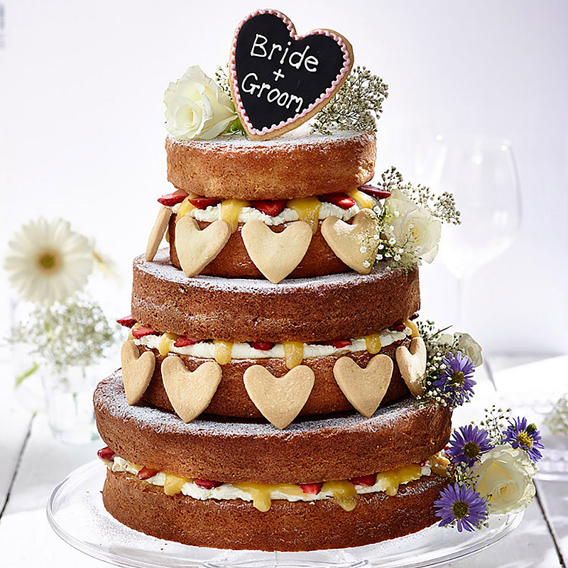 Fresh Fruit Vanilla Naked Wedding Cake
