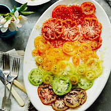 Anna Jones's Lemon-roasted Feta with Traffic-Light Tomatoes