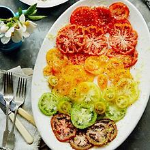 Anna Jones's Lemon-roasted Feta with Traffic-Light Tomatoes