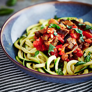 Courgette Ribbons With Ratatouille