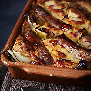 Rustic Apple & Onion Toad in the Hole