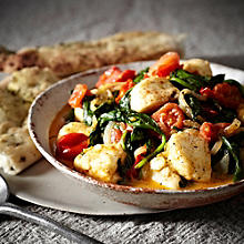 Halloumi & Spinach Curry