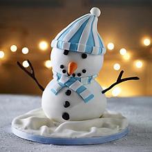 Snowman Hemisphere Cake
