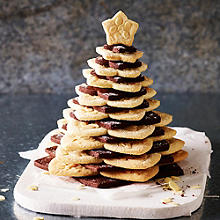 Chocolate and Almond Christmas Cookie Tree