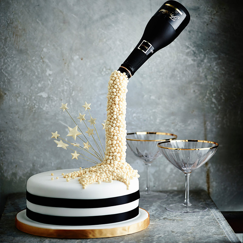 New Year Champagne Cake In Recipes At Lakeland