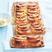 Donna Hay's Nectarine and Coconut Tart