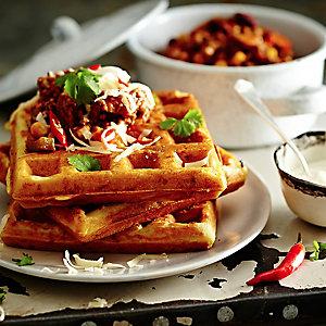 Chilli, Cheddar & Cornbread Waffles