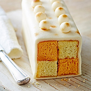 Orange & Vanilla Simnel Battenberg Cake