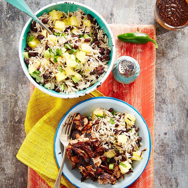 Pulled Jerk Pork With Rice Salad