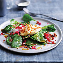Quinoa salad with haloumi  & pomegranate