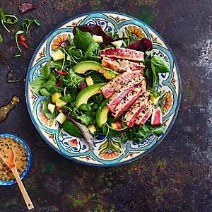 Seared Tuna Steak Salad With Ginger & Lime Vinaigrette