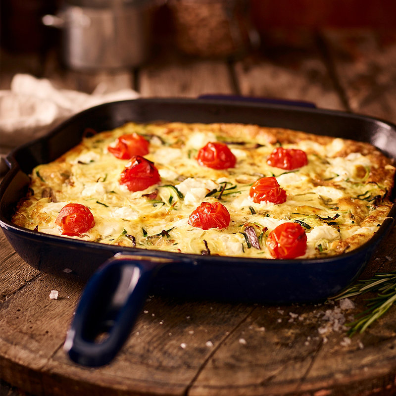 Courgette, Roast Tomato & Goat's Cheese Frittata