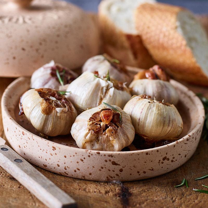 Baked Garlic with Rosemary