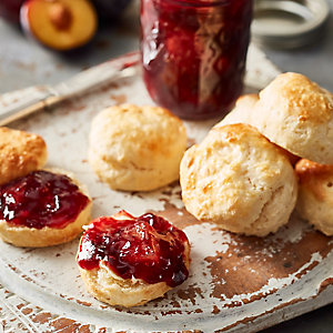Kefir Scones with Plum, Ginger & Cinnamon Jam