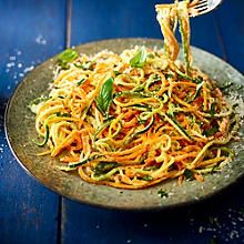 Creamy Butternut Squash & Courgette Noodles With Cashew Sauce